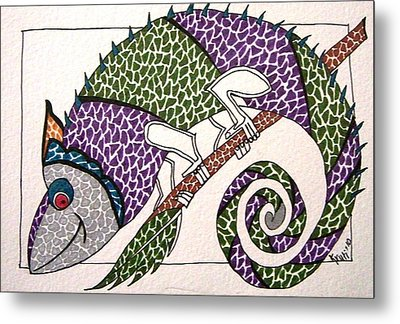 Chameleon Metal Print by Kruti Shah