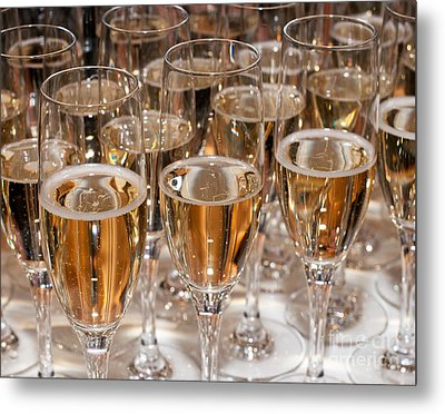 Champagne 01 Metal Print by Rick Piper Photography