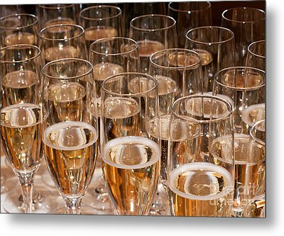 Champagne 02 Metal Print by Rick Piper Photography