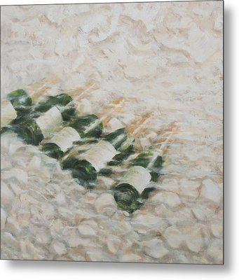Champagne Cooling Metal Print by Lincoln Seligman