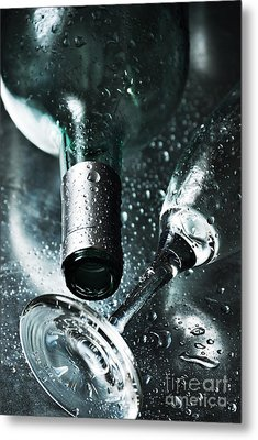 Champagne Metal Print by HD Connelly
