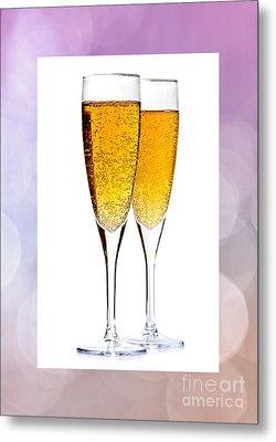 Champagne In Glasses Metal Print by Elena Elisseeva