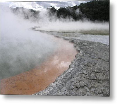 Metal Print featuring the photograph Champagne Pool by Christian Zesewitz