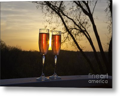 Champagne Sunset Metal Print by Kay Pickens