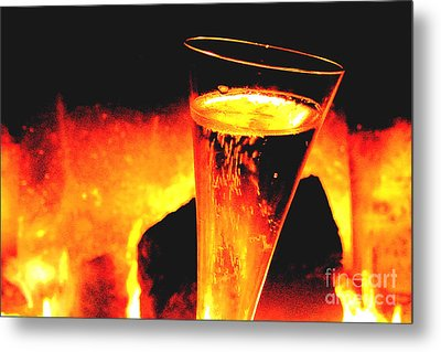 Champagne Wishes Metal Print by Jerome Stumphauzer