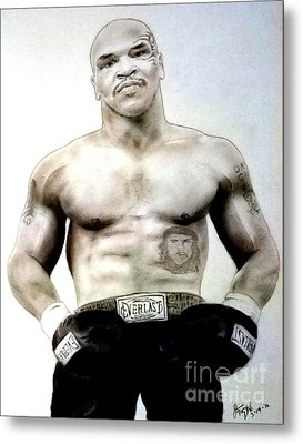 Champion Boxer And Actor Mike Tyson Metal Print by Jim Fitzpatrick