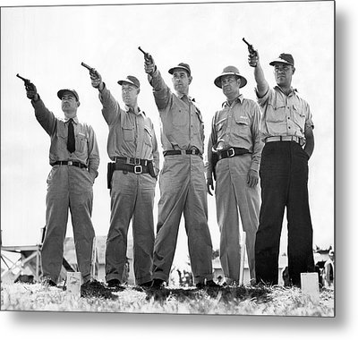 Champion Police Shooters Metal Print by Underwood Archives