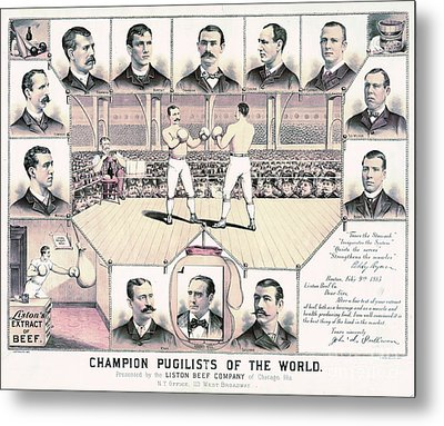 Champion Pugilists 1885 Metal Print by Padre Art