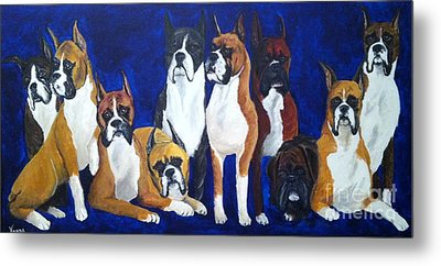 Metal Print featuring the painting Champions by Vonda Lawson-Rosa
