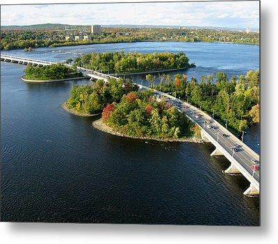 Champlain Bridge Metal Print by Rob Huntley