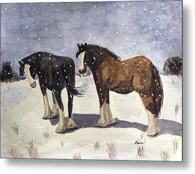 Metal Print featuring the painting Chance Of Flurries by Angela Davies