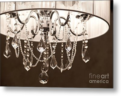 Metal Print featuring the photograph Chandelier by Aiolos Greek Collections