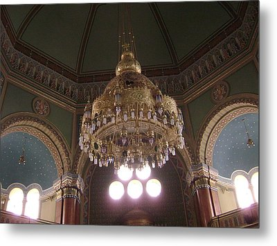 Chandelier Of Sofia Synagogue Metal Print