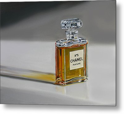 Metal Print featuring the painting Chanel No 5 by Gail Chandler