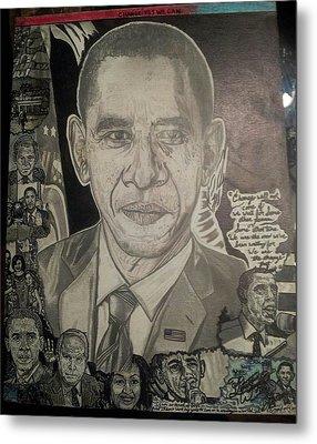Change Yes We Can Metal Print by Demetrius Washington