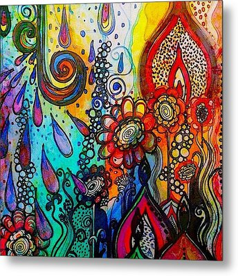 Changes ... #watercolor #doodle #fun Metal Print by Robin Mead