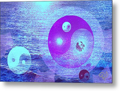 Changing Currents Of Reality Metal Print