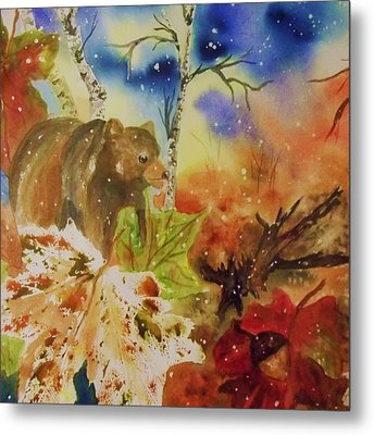 Changing Of The Seasons - Square Format Metal Print by Ellen Levinson