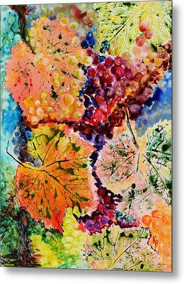 Metal Print featuring the painting Changing Seasons by Karen Fleschler