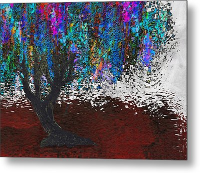 Changing Tree Metal Print by Jack Zulli