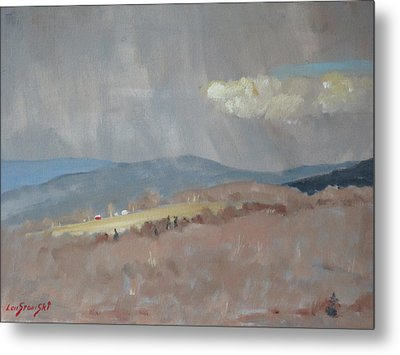 Metal Print featuring the painting Changing Weather by Len Stomski