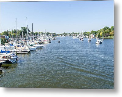 Metal Print featuring the photograph Channel Down Spa Creek by Charles Kraus