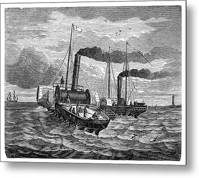 Channel Telegraph Cable Laying Metal Print