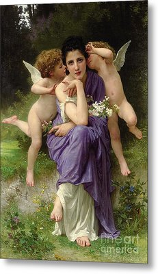 Chansons De Printemps Metal Print by William Adolphe Bouguereau