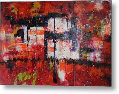 Chaos On A Sunday Afternoon Metal Print by Paulette B Wright