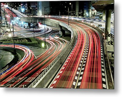 Chaotic Traffic Metal Print by Koji Tajima