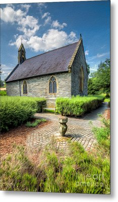 Chapel 17th Century  Metal Print by Adrian Evans