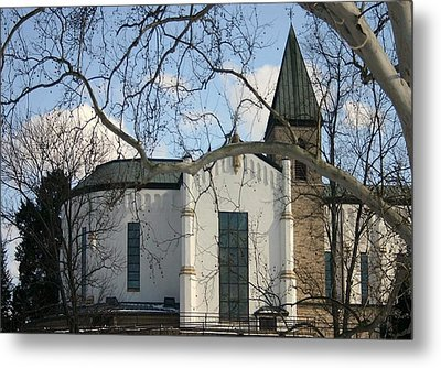 Chapel And Tower I Metal Print by Thia Stover