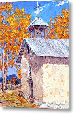 Chapel At Ojo Claiente Metal Print by Steven Boone