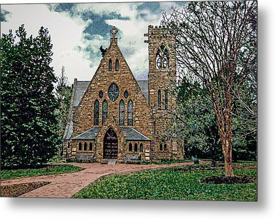 Chapel At University Of Virginia Metal Print