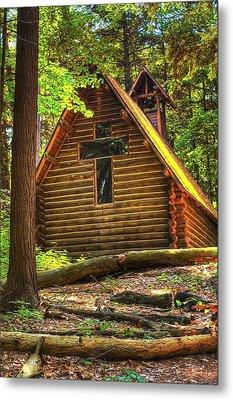 Chapel In The Pines Metal Print