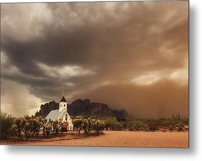 Chapel In The Storm Metal Print