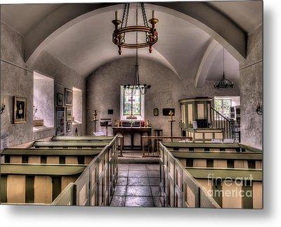 Chapel In Wales Metal Print by Adrian Evans