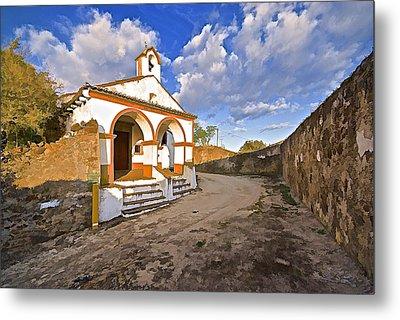 Chapel Of Castelo De Vide Metal Print by David Letts