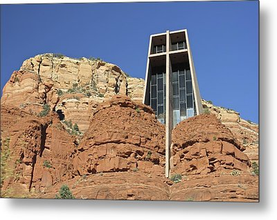 Metal Print featuring the photograph Chapel Of The Holy Cross by Penny Meyers