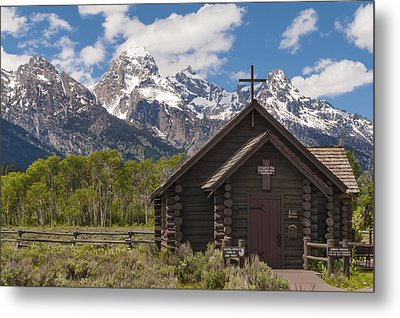 Chapel Of The Transfiguration - Grand Teton National Park Wyoming Metal Print by Brian Harig