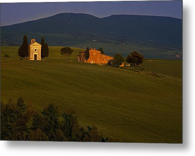 Chapel On A Hillside Metal Print by Andrew Soundarajan