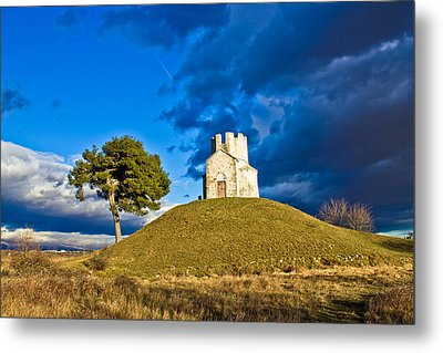 Chapel On Green Hill Nin Dalmatia Metal Print