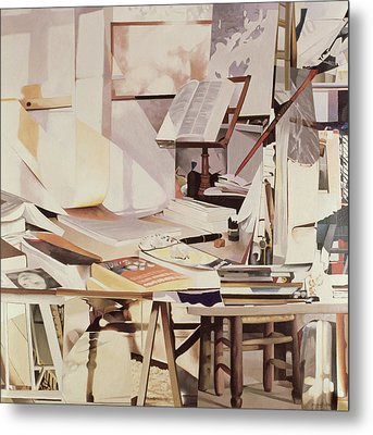 Chapter, 1990 Oil On Canvas Metal Print