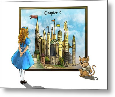 Metal Print featuring the painting Chapter Nine by Reynold Jay