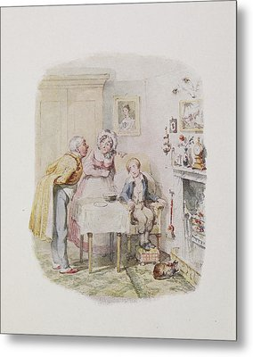 Characters From Oliver Twist Metal Print by British Library