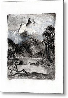 Charcoal Hills Metal Print