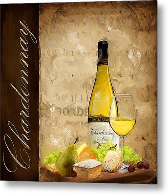Chardonnay IIi Metal Print by Lourry Legarde