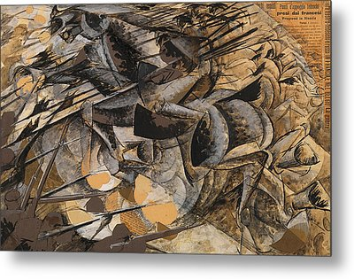 Charge Lancers Metal Print by Umberto Boccioni