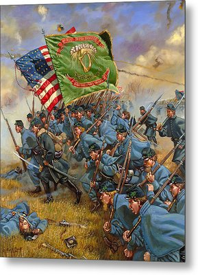 Charge Of The Irish Brigade Metal Print