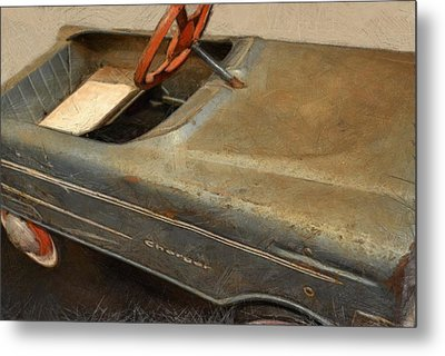 Charger Pedal Car Metal Print by Michelle Calkins